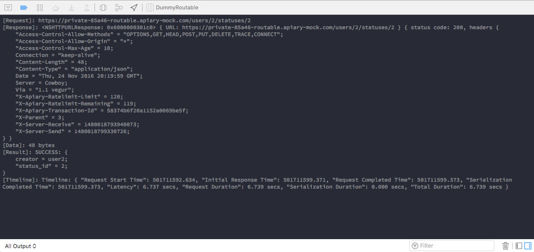 nested routable URL response